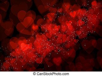valentin nap, piros, piros, háttér