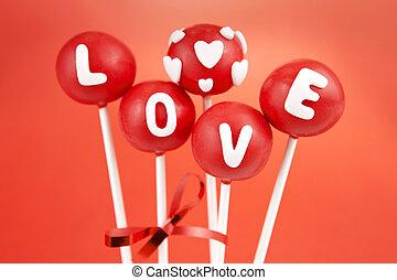 valentin, pop, gâteaux