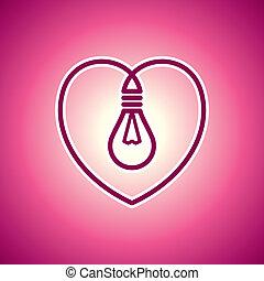 valentin, s, ランプ