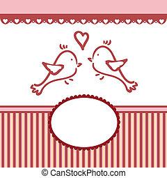 valentin, salutations, gabarit, mariage, ou, carte