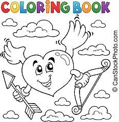 valentin, thème, livre coloration, 6