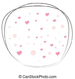 valentin, tomber, romantique, rue., texture., day., dispersé, cœurs, amour, arrière-plan., s