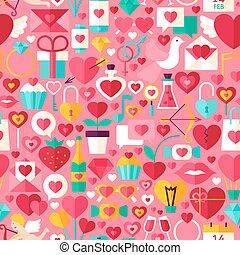 valentina, giorno, rosa, seamless, modello