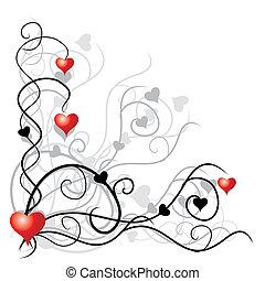 valentinbrev, bakgrund, med, plats, för, din, text