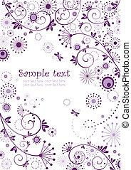 valentinbrev, baner, violett