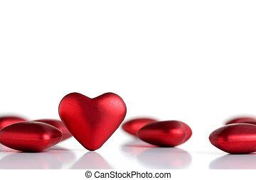 valentinbrev, hjärtan