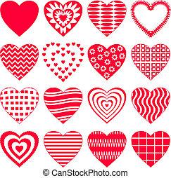 valentinbrev, sätta, hjärta, 16