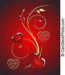 valentineçs, cartão