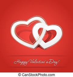 valentineçs jour, carte, heureux