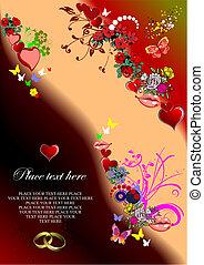 valentineçs jour, carte, salutation