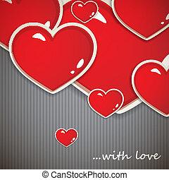 valentineçs jour, fond, à, cœurs