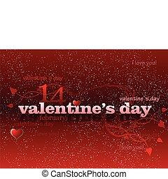 valentineçs jour, fond, rouges