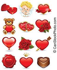 valentine, ícones