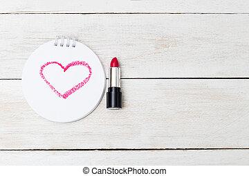 valentine., ホリデー, カード, ∥で∥, コピー, space.