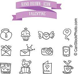 valentine, abbildung, sammlung, heiligenbilder