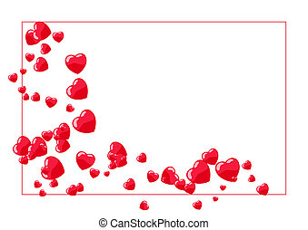 Abstract illustration of a valentines background