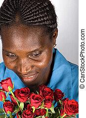 Valentine African girl