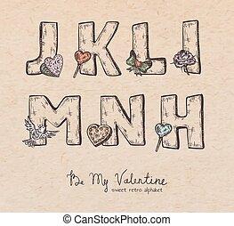 Valentine alphabet