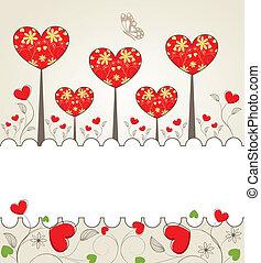 Valentine background - Abstrackt Valentine background with a...