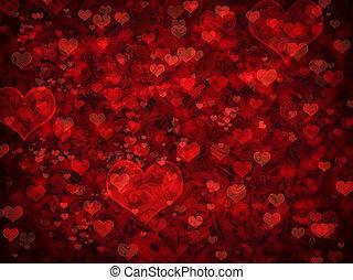 Valentine background - Shiny hearts bokeh light Valentine's...