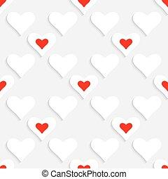 Valentine Background - 3d Abstract Vector Valentine...