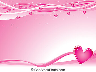 Valentine background - Lovely background with hearts for...