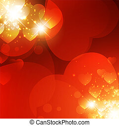 Valentine background - Abstract Valentine background with...