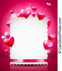Valentine background - Modern Valentine background with...