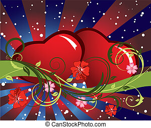 valentine background - St. Valentine Day greeting card with...