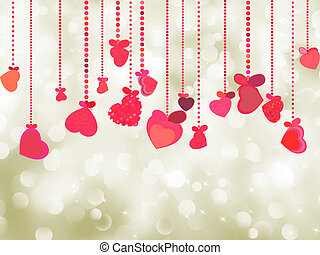 Valentine background of holiday lights. EPS 8