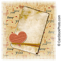 Valentine background - Square valentine background with red...