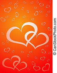 Valentine background, vector illustration