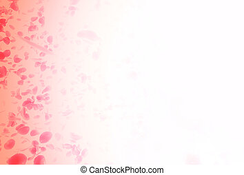 valentine background with falling red rose petals