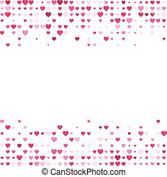 Valentine background with hearts.