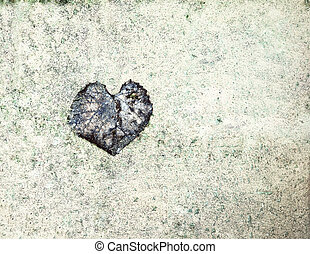 valentine background with naturally heart shaped leaf