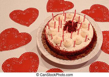 Valentine birthday cake Stock Photo Images 11529 Valentine