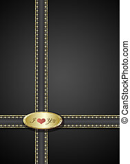 Valentine Black Background with  Heart