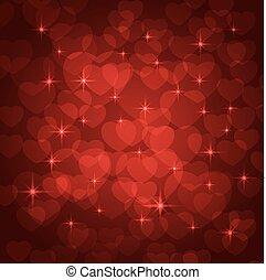 valentine, bokeh, hintergrund