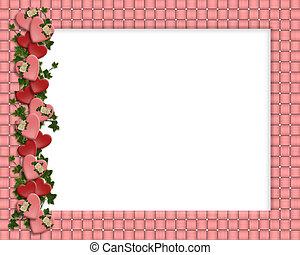 Valentine Border Hearts frame