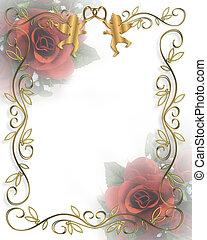 Valentine Border roses