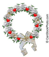 Valentine Border Wreath design
