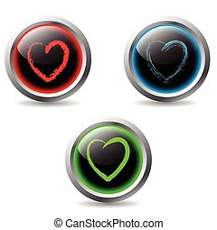 valentine, botões, 2