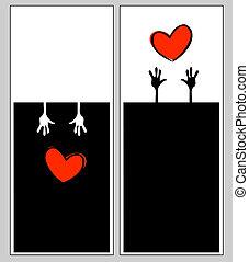 valentine, broszura, wektor, szablon, bilety, dzień
