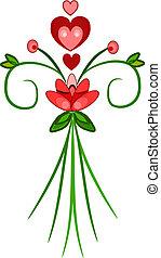 Valentine bunch of flowers