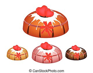 Valentine Bundt Cake Topped with Sugar Glaze