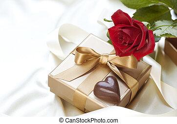 valentine, cadeau, rue.