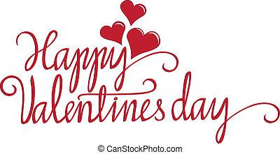 Valentine calligraphy