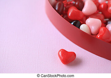 Valentine candies with copy space
