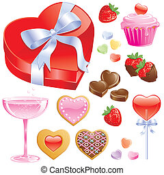 Valentine candy and Champagne