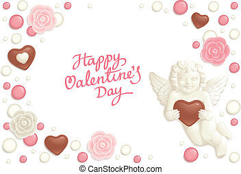 Valentine candy background